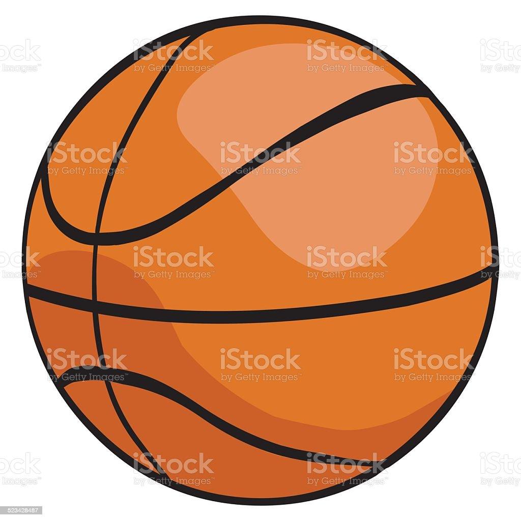 ilustração de vetor desenho único de bola de basquete e mais banco