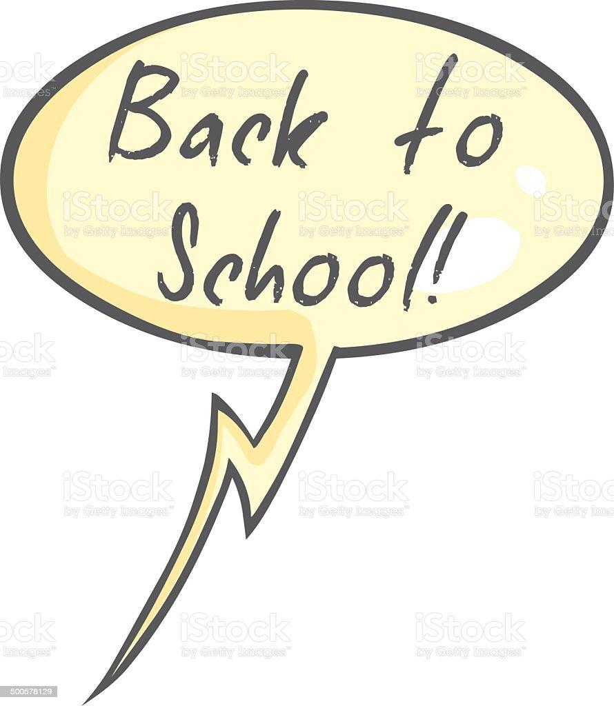 Vector Single Cartoon Bubble - Back to School. royalty-free vector single cartoon bubble back to school stock vector art & more images of autumn