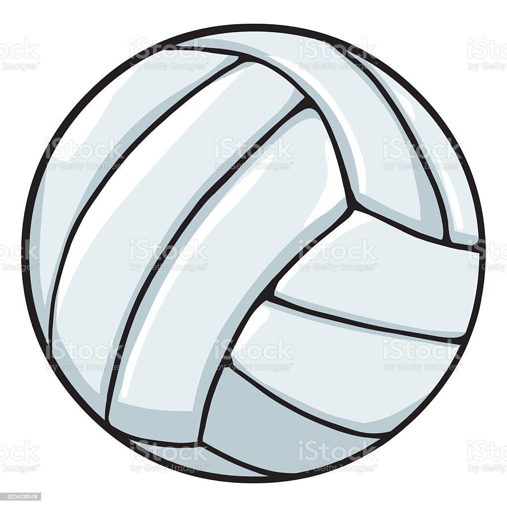 Vector Single Cartoon Volleyball Ball Stock Vector Art