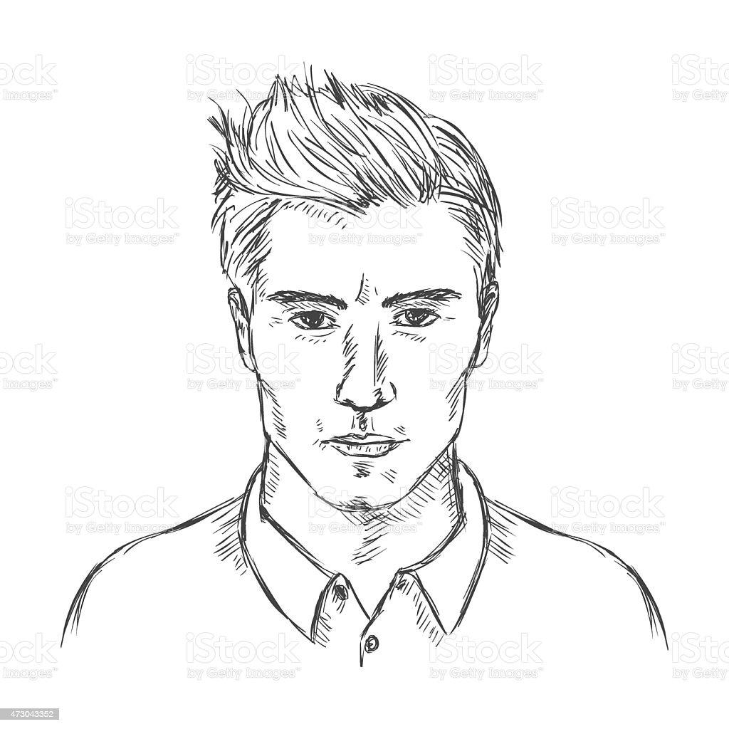 Vecteur Simple Esquisse Homme Coiffure Pour Hommes Vecteurs Libres De Droits Et Plus D Images Vectorielles De 2015 Istock