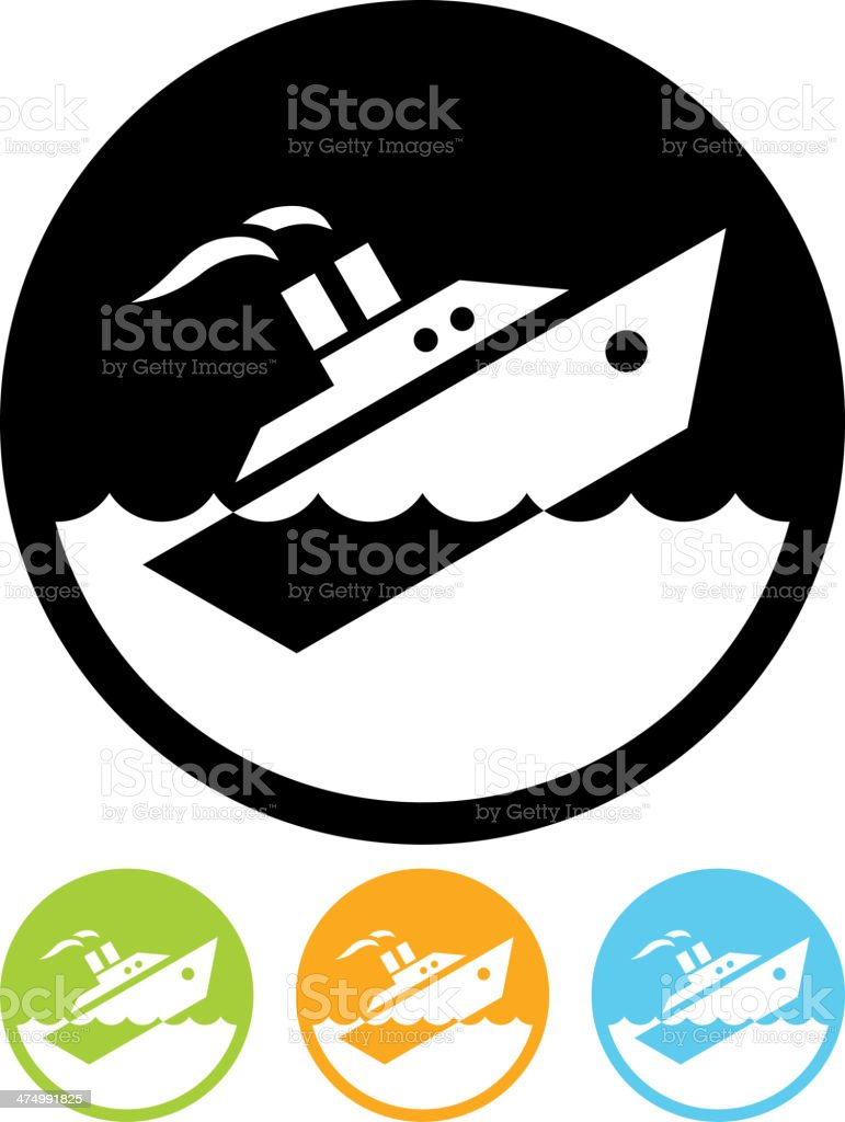 Vector Sinking ship isolated vector art illustration