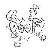 Vector Sketch Comics Word - Poof