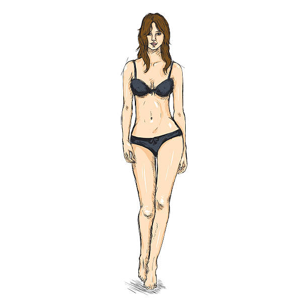 Drawing Of Nacked Woman Illustrations Royalty Free Vector Graphics