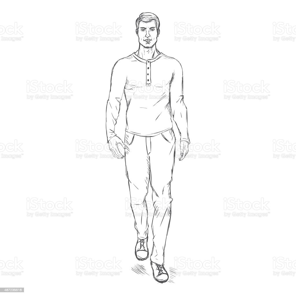 Fashion Croquis Male