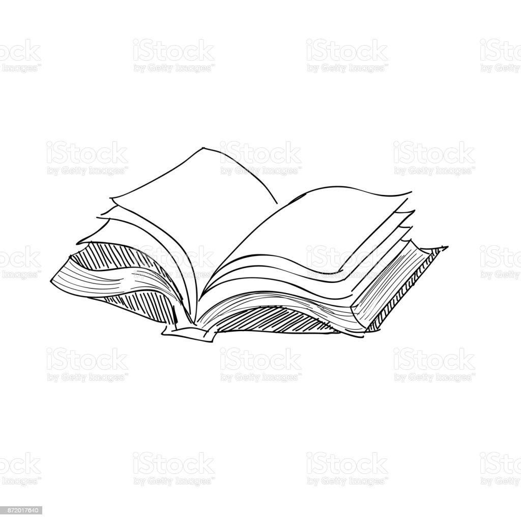 vector mano dibujo libro antiguo ilustracin de vector mano dibujo libro antiguo y ms banco de