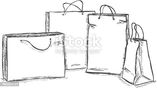 how to draw a shopping mall step by step
