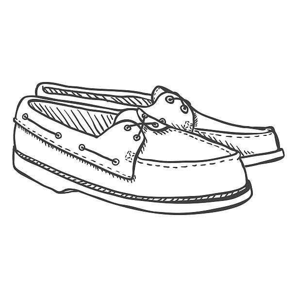 Royalty Free Boat Shoes Clip Art, Vector Images
