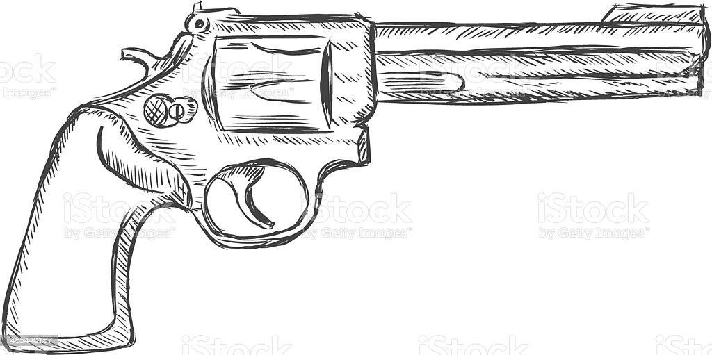 Vetores De Vetor Desenho De Ilustracao44 E Mais Imagens De Arma De