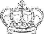 vector sketch illustration - royal crown