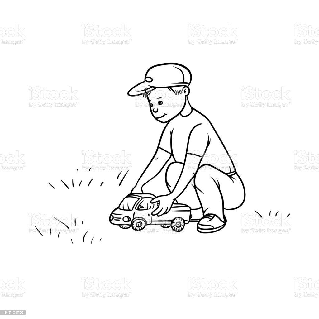 Dibujo Camión Niño Rueda De Vector Juguete Ilustración Coche Del eCxBod