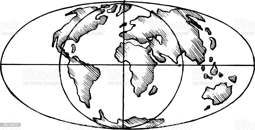 Vector sketch map world flat globe stock vector art more images of vector sketch map world flat globe royalty free vector sketch map world flat gumiabroncs Image collections