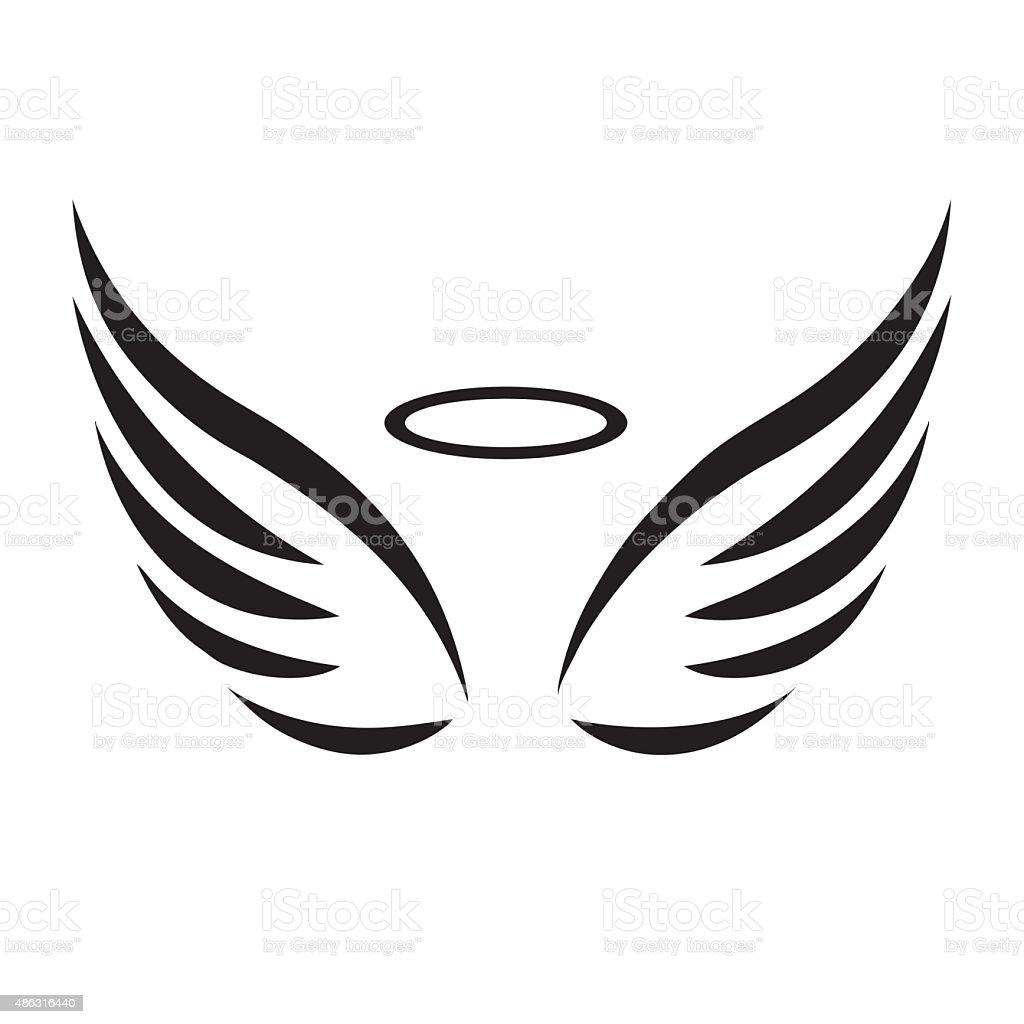 royalty free angel wings clip art vector images illustrations rh istockphoto com vector winston salem nc jobs vector wings free