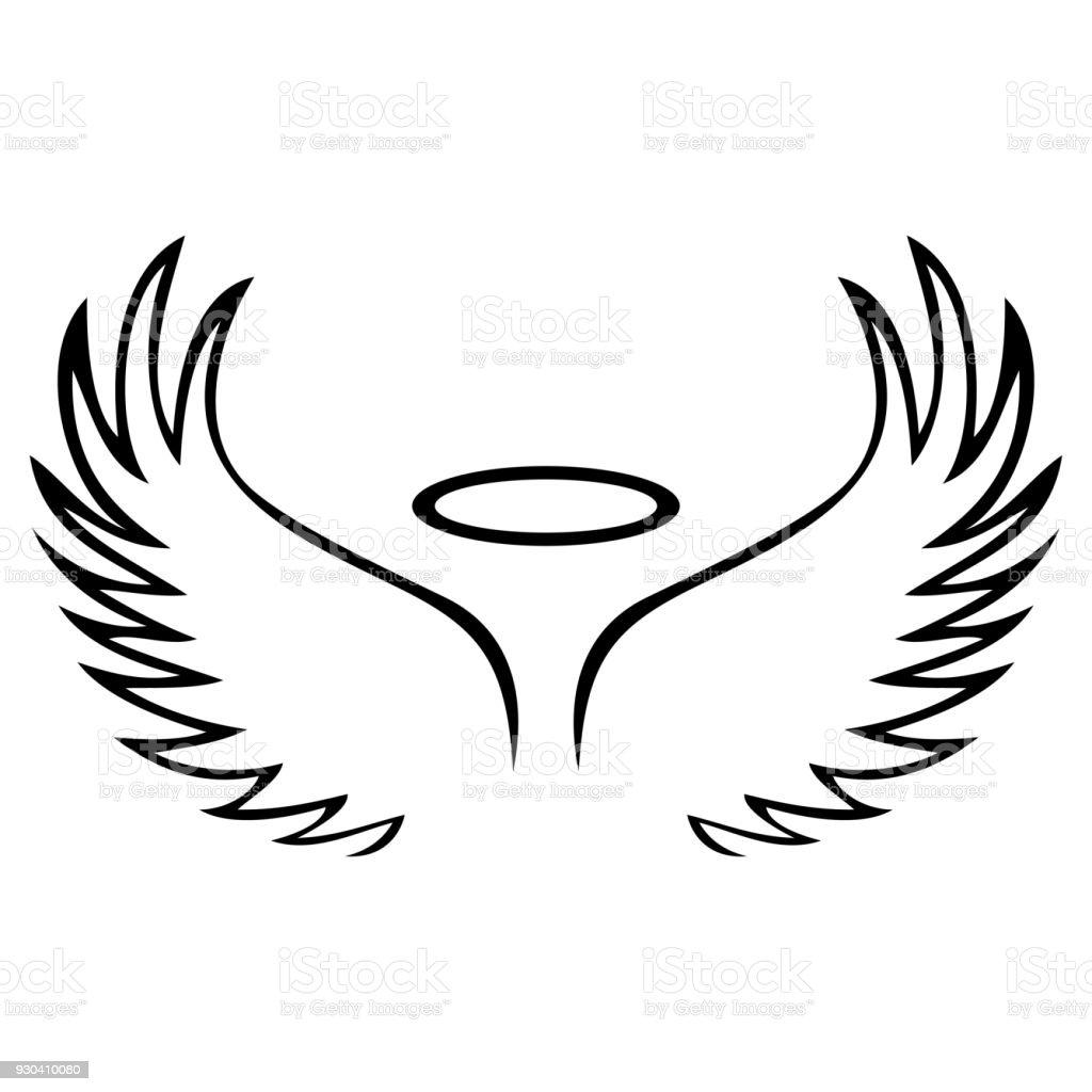 Vector Sketch Of Angel Wings Stock Vector Art & More