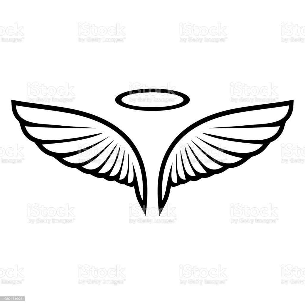Vector boceto de alas de angel - ilustración de arte vectorial