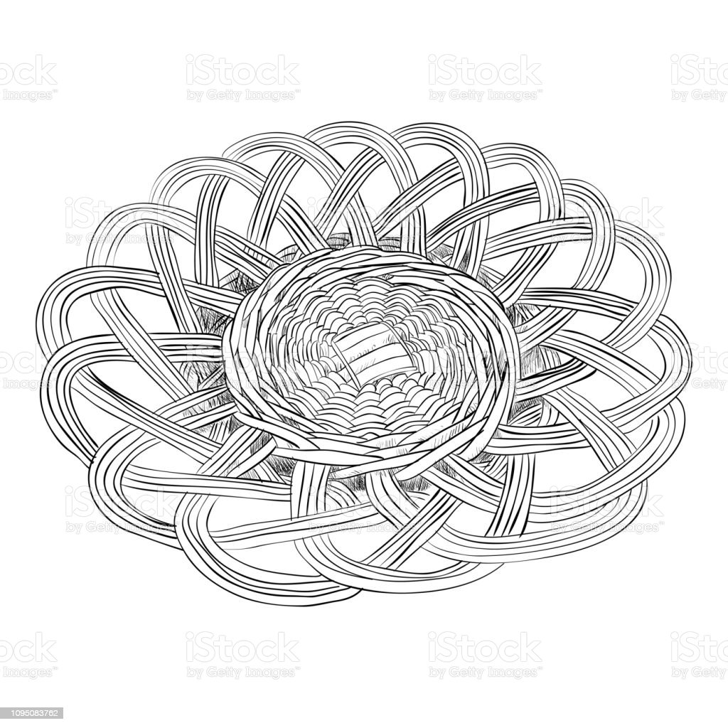 Vector sketch of dish vector art illustration