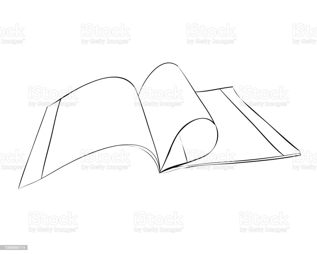 Vector sketch of exercise book. vector art illustration