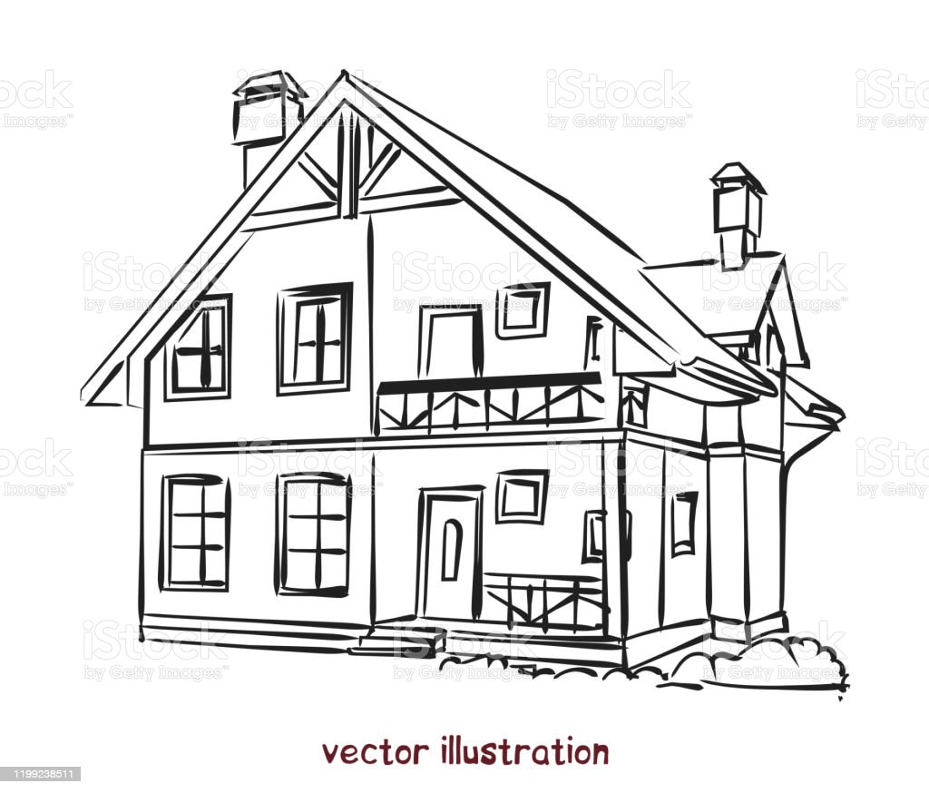 Vector Sketch Of Individual House For Design Stock Illustration Download Image Now Istock