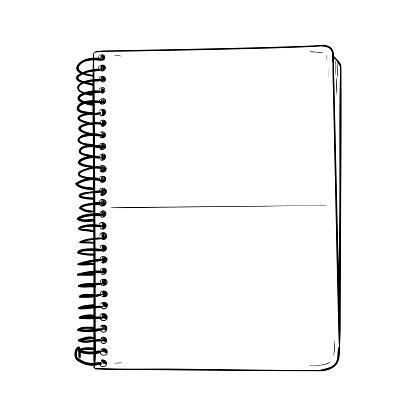 Vector sketch of notepad