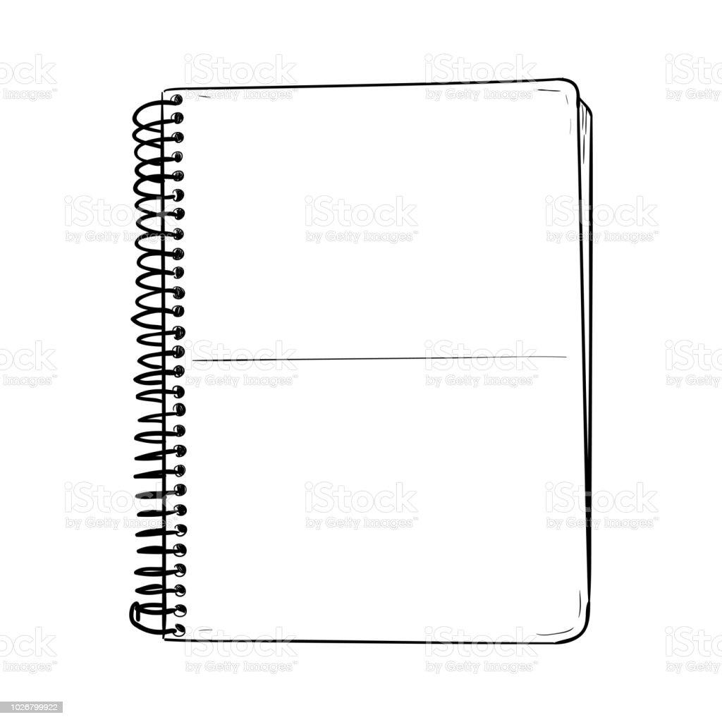 Vector sketch of notepad vector art illustration
