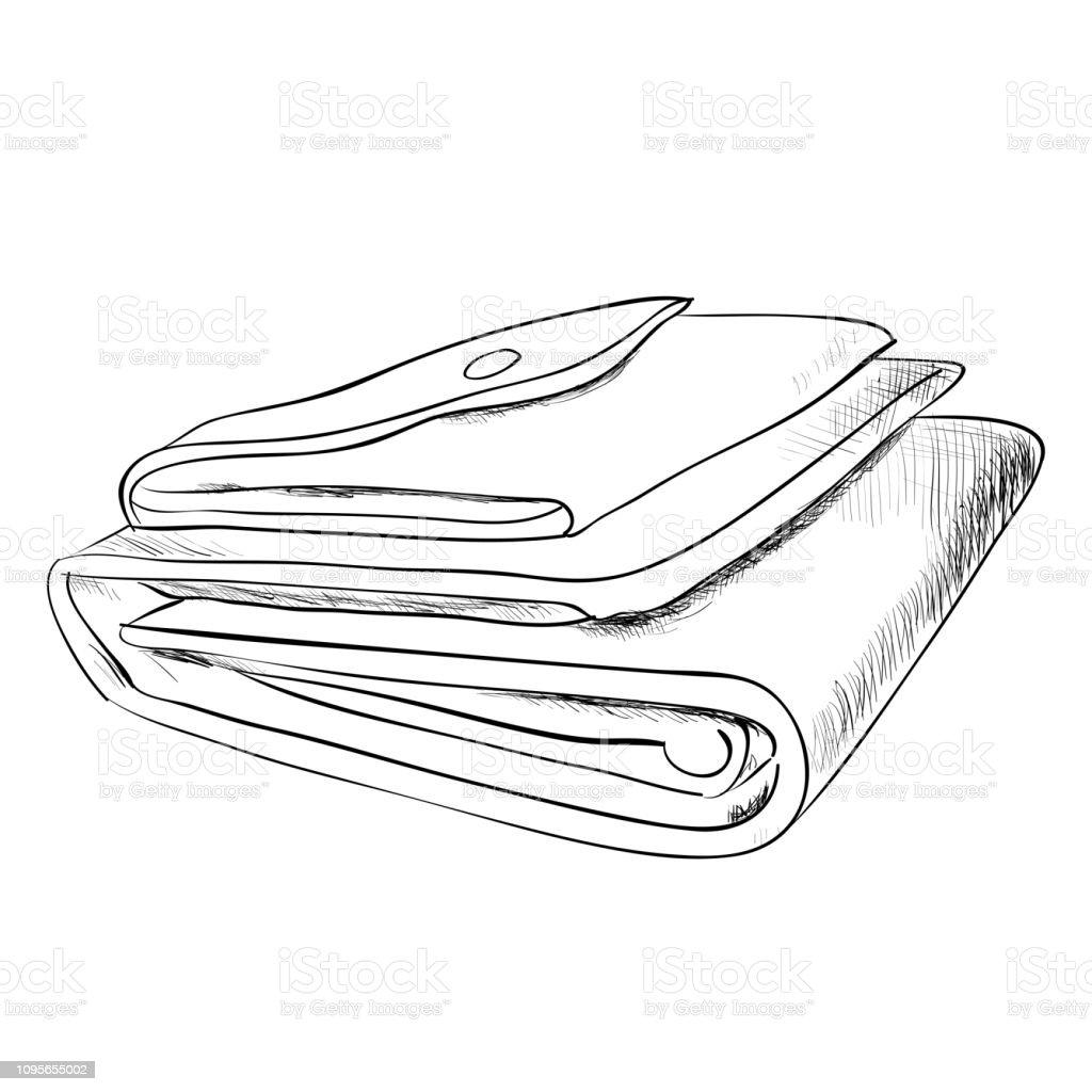 Vector sketch of wallet vector art illustration