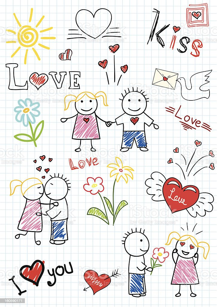 Vector sketchs - romantic couple royalty-free vector sketchs romantic couple stock vector art & more images of adult