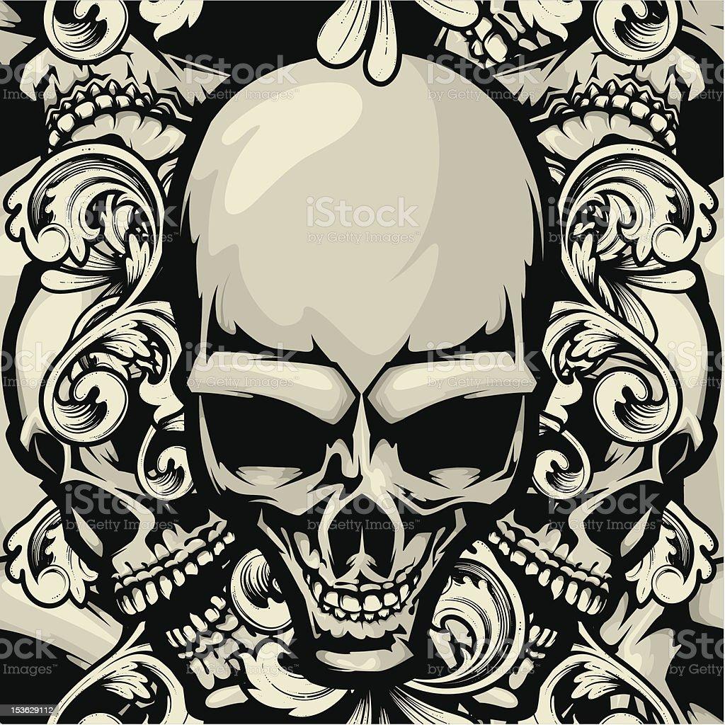 vector skull pattern royalty-free vector skull pattern stock vector art & more images of backgrounds