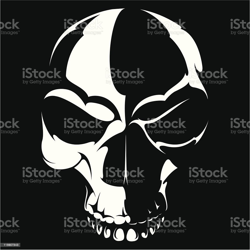 vector skull royalty-free stock vector art