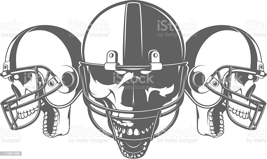 vector skulls royalty-free stock vector art