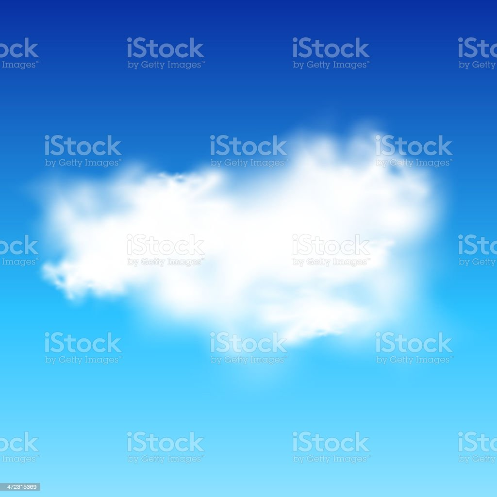 Vector sky with cloud royalty-free stock vector art