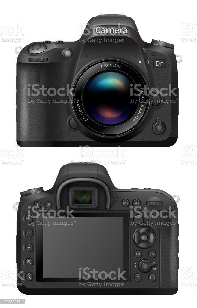 Vector SLR Camera vector art illustration