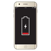 istock Vector Smartphone Low Battery 540389766