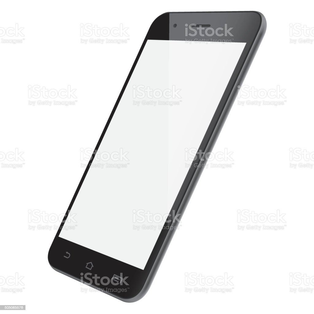 Vector smartphone template vector art illustration