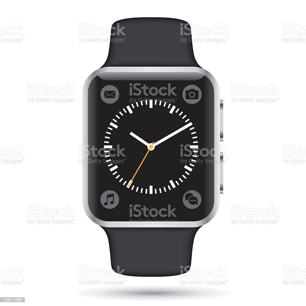 Vector smartwatch vector art illustration