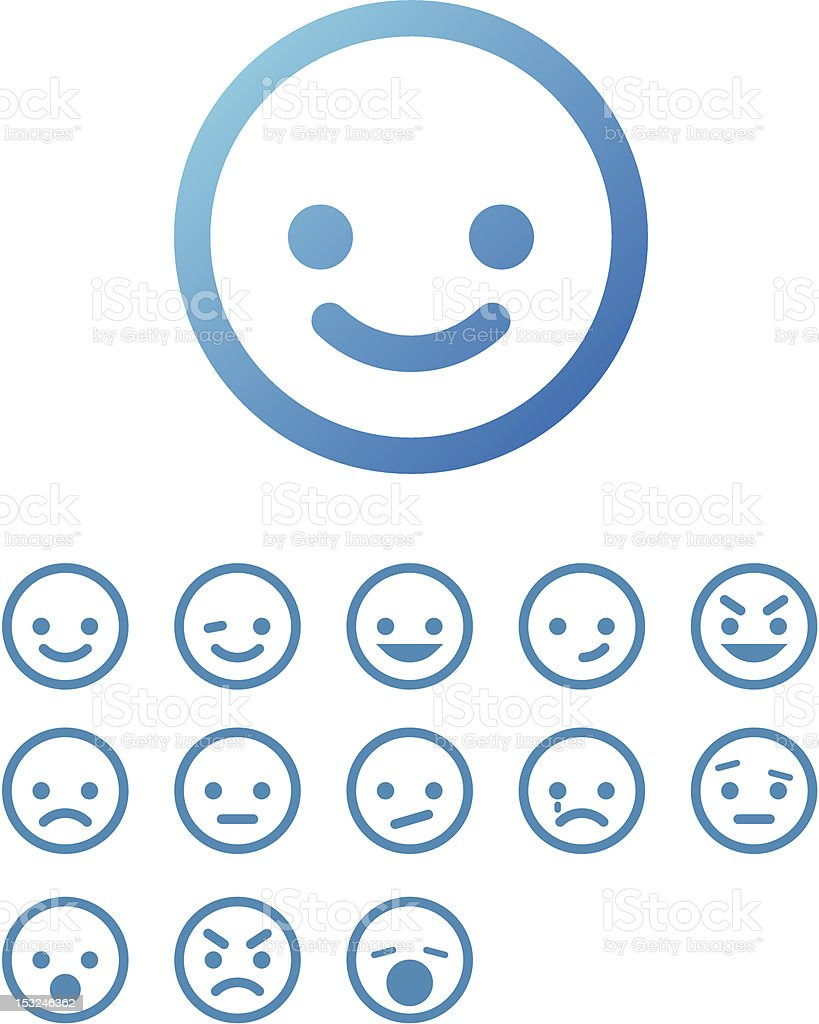 Vector Smile Icon Set royalty-free vector smile icon set stock vector art & more images of anger