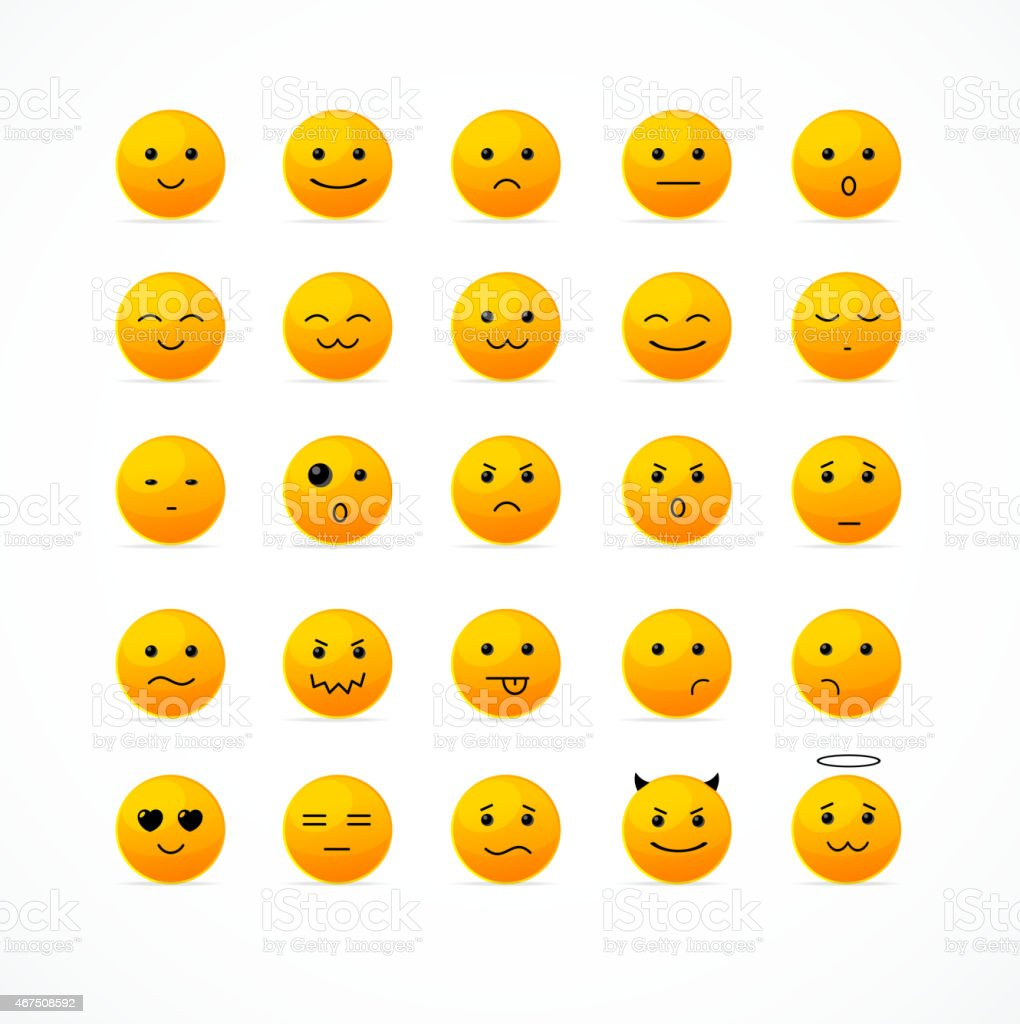 Vector Smile Icon Set Stock Illustration