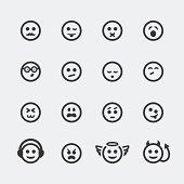 Vector smile mini icons set #2