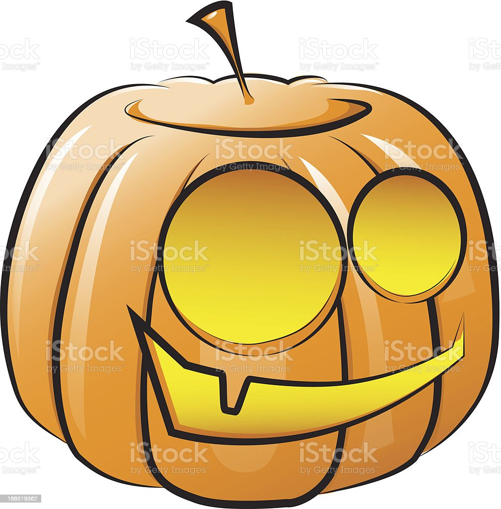 Vector smiling pumpkin. The symbol of Halloween royalty-free vector smiling pumpkin the symbol of halloween stock vector art & more images of autumn