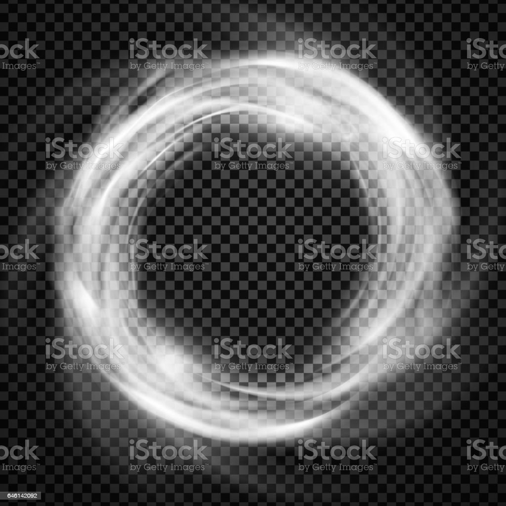 Vector smoke ring light effect with trasparency vector art illustration