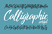 istock Vector smooth calligraphic script font 1193082940