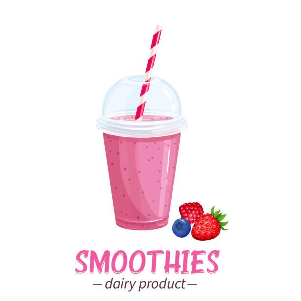 bildbanksillustrationer, clip art samt tecknat material och ikoner med vector smoothies ikonen. - smoothie