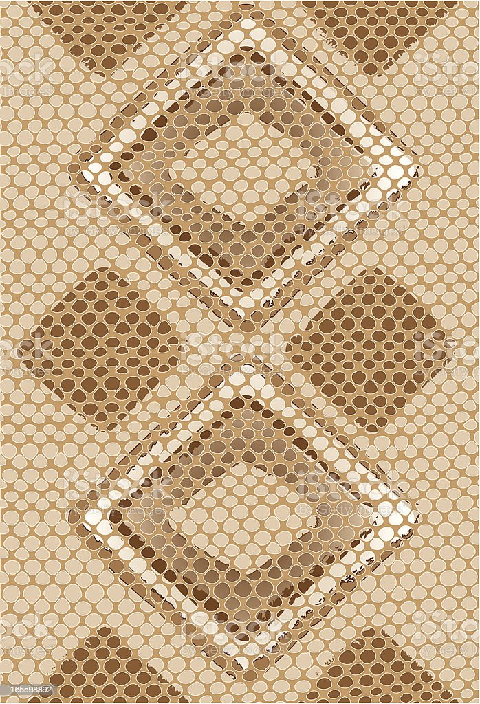 Vector Snake Skin Background royalty-free stock vector art