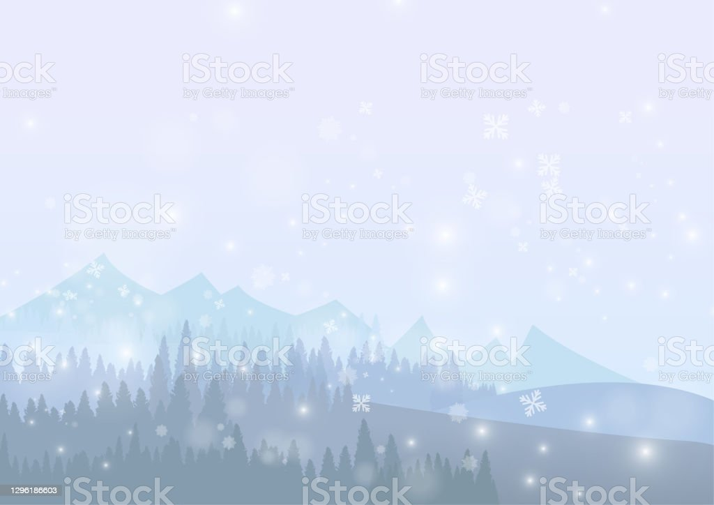 Vector : Snow forest with snowflake on ice background Vector : Snow forest with snowflake on ice background Celebration stock vector