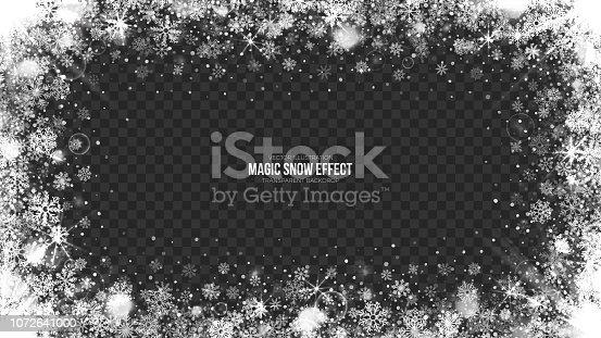 istock 3D Vector Snow Frame Illustration 1072641000