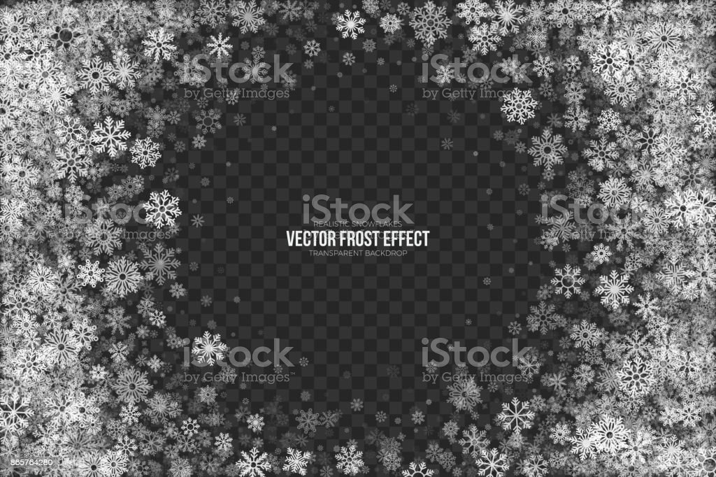 Vector Snow Frost 3D Effect vector art illustration