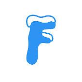 Vector Snow Letter Logo F