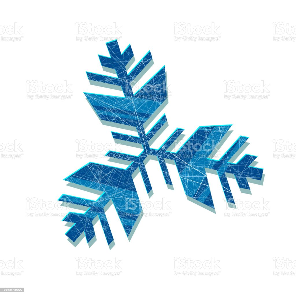 vector snowflake abstract snowflake of geometric shapes sign of the