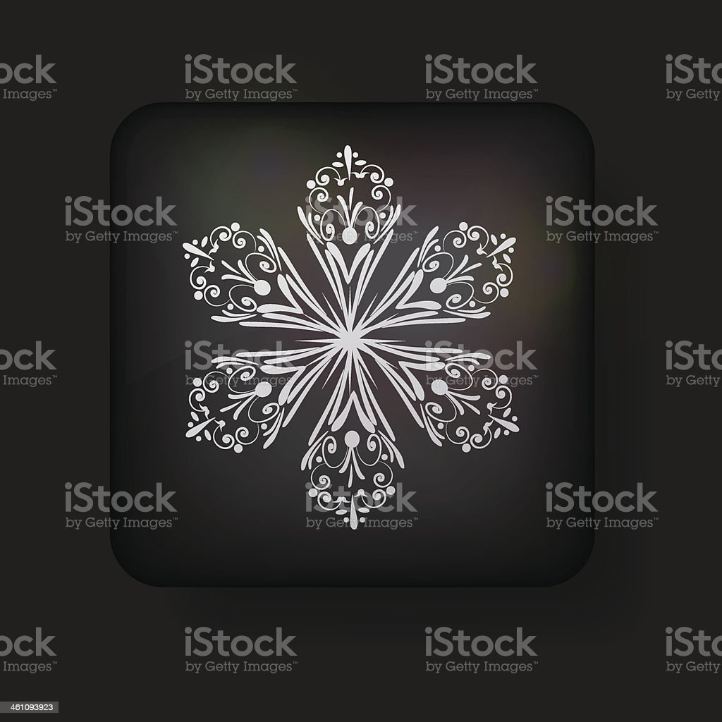 Vector snowflake icon on black background. Eps 10 royalty-free vector snowflake icon on black background eps 10 stock vector art & more images of abstract