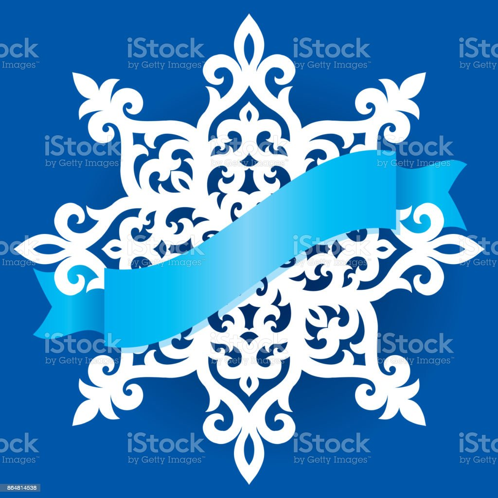 vector snowflake laser cut template cutout pattern of christmas or new year decoration background