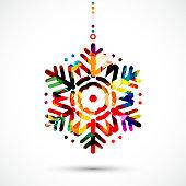 Vector snowflake pattern symbol