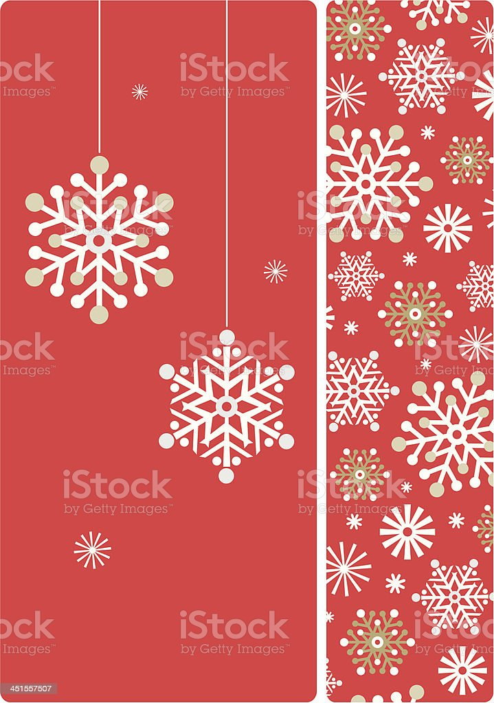 Vector Snowflake placement & background royalty-free stock vector art